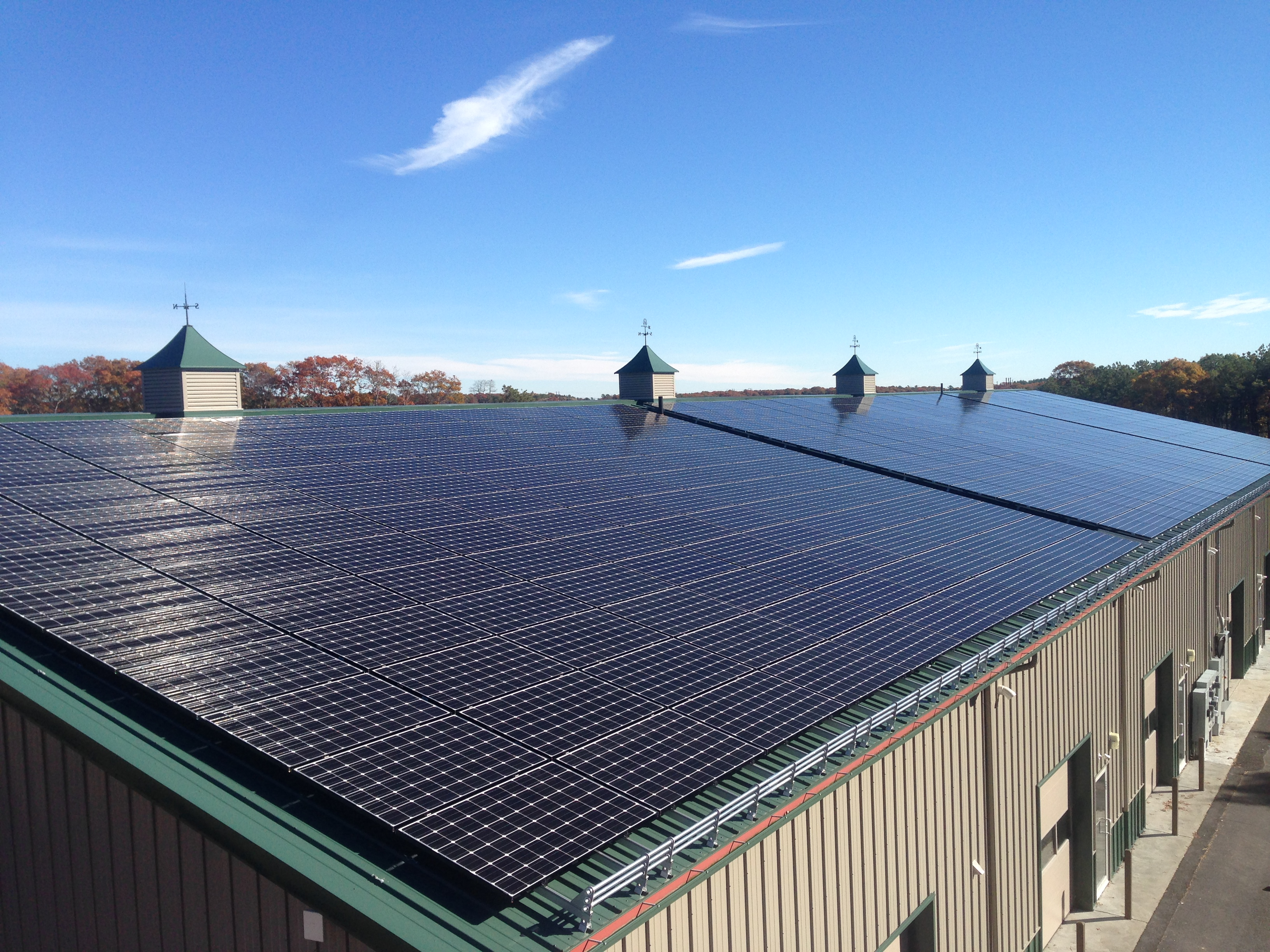 Commercial Solar Panel Wiring Simple Diagram Site Energy Systems Installation On Cape Cod Rising Circuit